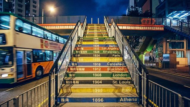 olympijské hry na schodech