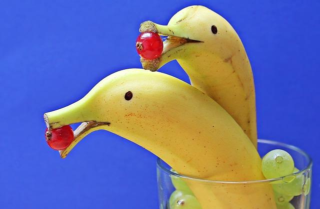 banány ve sklenici